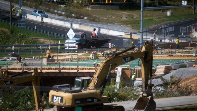 Looking across a bridge that will connect Interstate 83 with Mount Rose Ave. Wednesday September 27. Mount Rose Ave. is in the background.