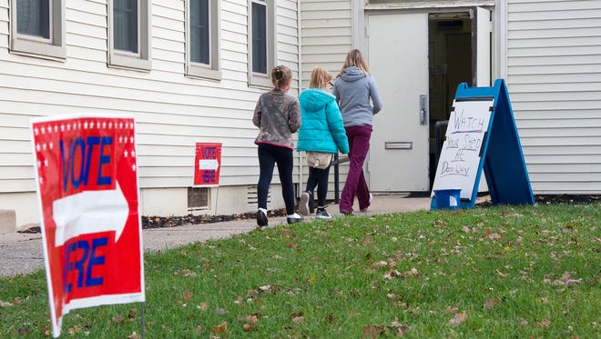 Voters walk into a York city polling place on Kelly Drive at the Yorktowne Center during the first hour of voting on Tuesday. Next up? The 2018 race for the governor's office.