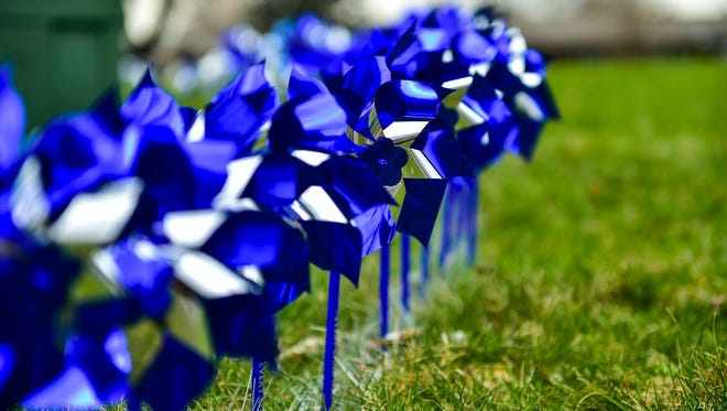 Pinwheels were in placed observance of National Child Abuse Prevention Month.