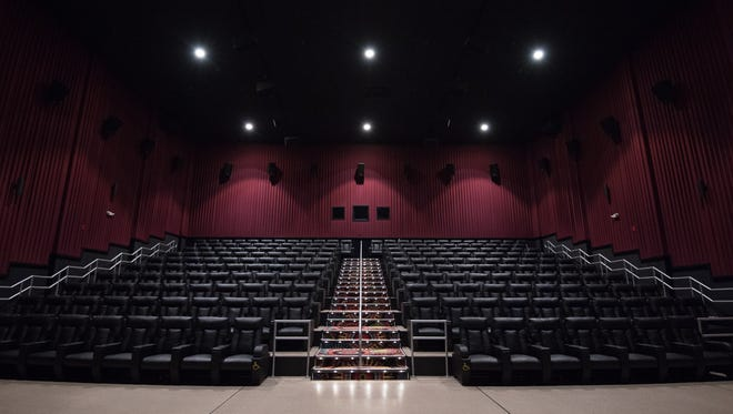 The Cube, the new Movies at Midway premium large-format theater near Rehoboth Beach, which opened last month. It has 51 speakers and a 58-by-24 screen.