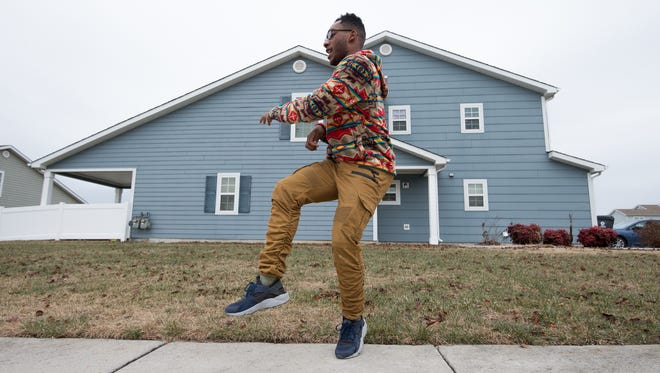 "Senior Airman Marcus Ward is the 2017 Air Force Entertainer of the Year. Ward, of the 436th Aircraft Maintenance Squadron at Dover Air Force Base, Delaware, danced to ""Walking with the Elephants"" performed by Shakka featuring Frisco Rollin' in the online video talent contest sponsored by the Air Force Services Activity (AFSVA)."