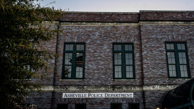 Asheville Police Department in downtown Asheville.