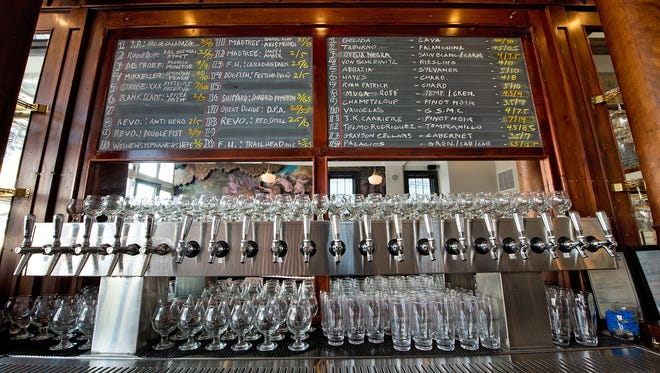 Twenty taps are available for draught beer at Liberty's.
