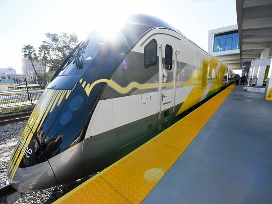 Brightline executives, elected officials and media personnel made the introductory trip between West Palm Beach and Fort Lauderdale Friday, Jan. 12, 2018, during an invitation-only media preview ride beginning and ending at the Brightline West Palm Beach station. Brightline is currently selling tickets and passes both online and on their mobile app and will begin service for the general public beginning Saturday, Jan. 13.