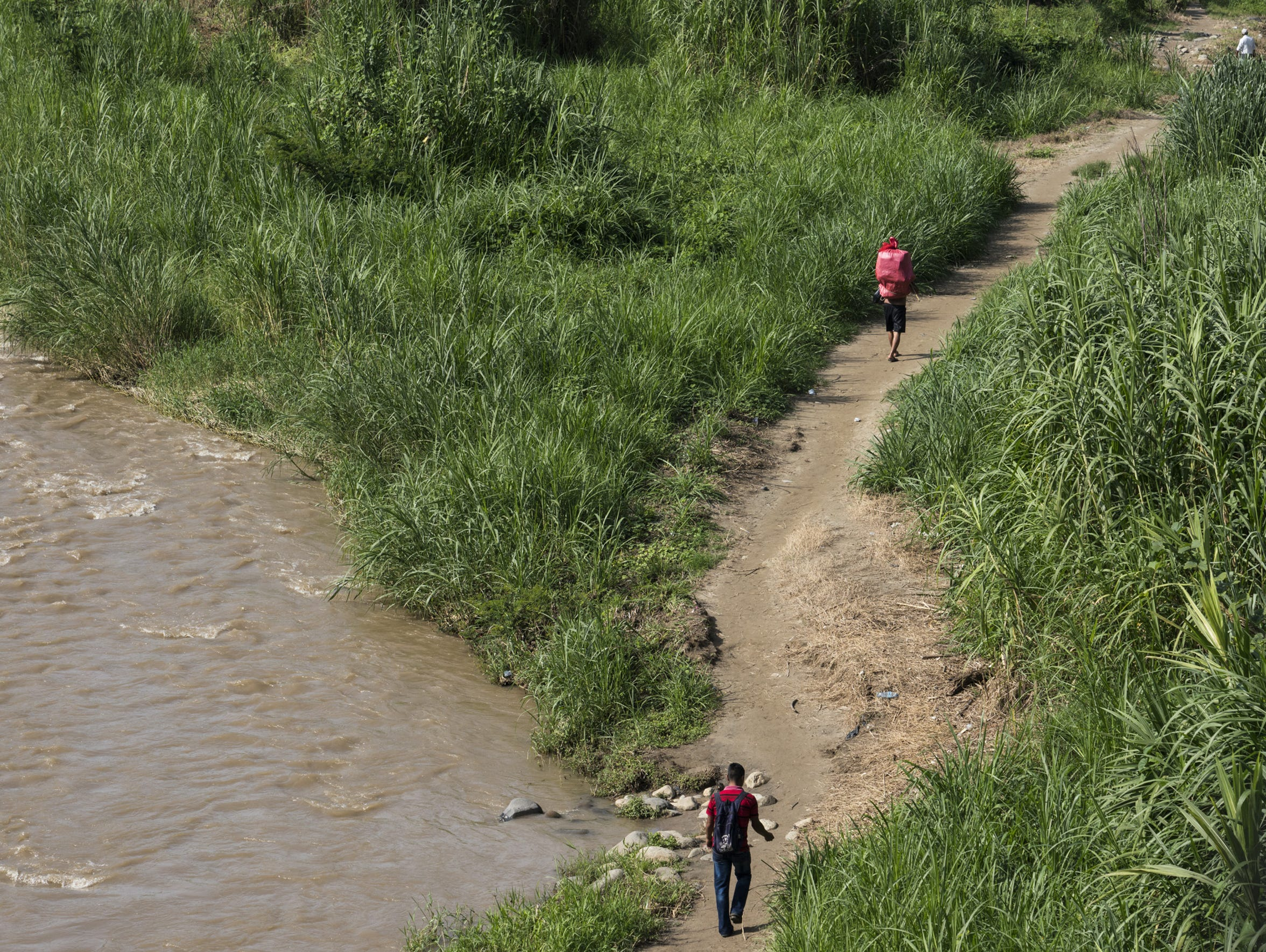 Once they cross the Suchiate River into Mexico, many