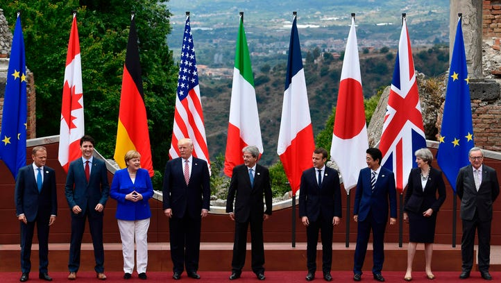 President Trump and other G-7 members.