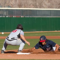 Dixie State baseball maintains their perfect record with a 2-1 victory over Northwest Nazarene Friday, Feb. 12, 2016.