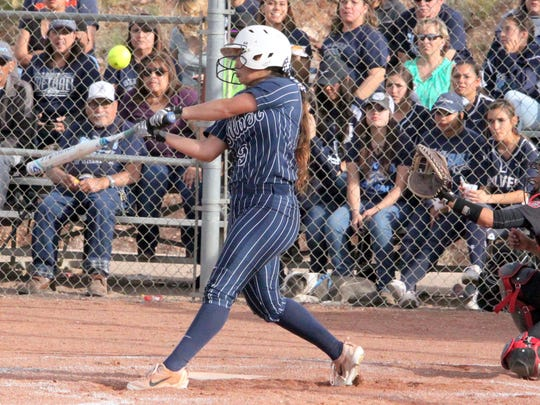 Alyssa Sublasky went 1-for-3, with a double and a run scored during action Tuesday against Cobre.