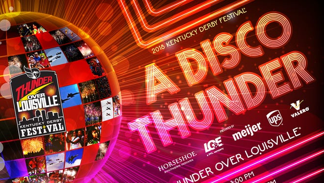 """A Disco Thunder,"" the theme for the 2018 Thunder Over Louisville show, will celebrate disco music and the fireworks soundtrack will be filled with the top hits of that era"
