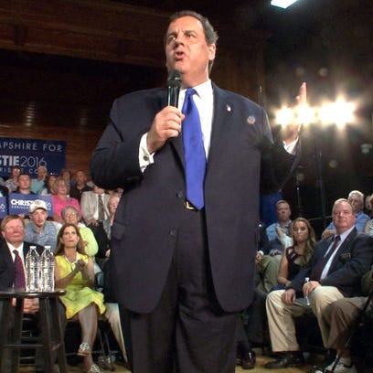 New Jersey Governor and just announced Republican presidential