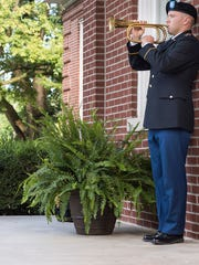 Taps is performed by Cadet Joe Bell during MTSU's 9/11