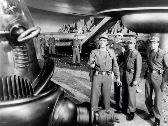 "A scene from ""Forbidden Planet"" (1956). Shown from"