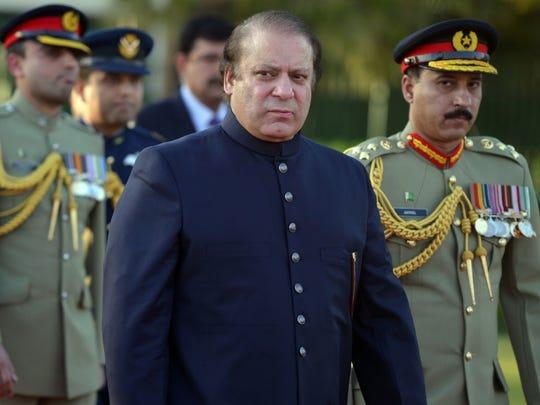 Pakistani Prime Minister Nawaz Sharif.