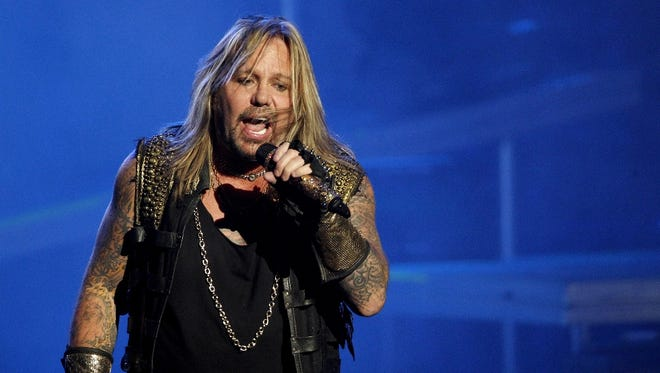 Vince Neil performs with Motley Crue on Saturday, July 5, at Klipsch Music Center.