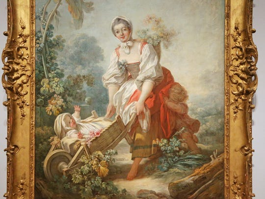 """The Joys of Motherhood,"" by Jean-Honore Fragonard, 1754, oil on canvass, collection of the Indianapolis Museum of Art."
