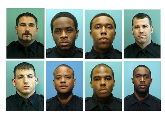 Eight officers in the Baltimore Police Department were