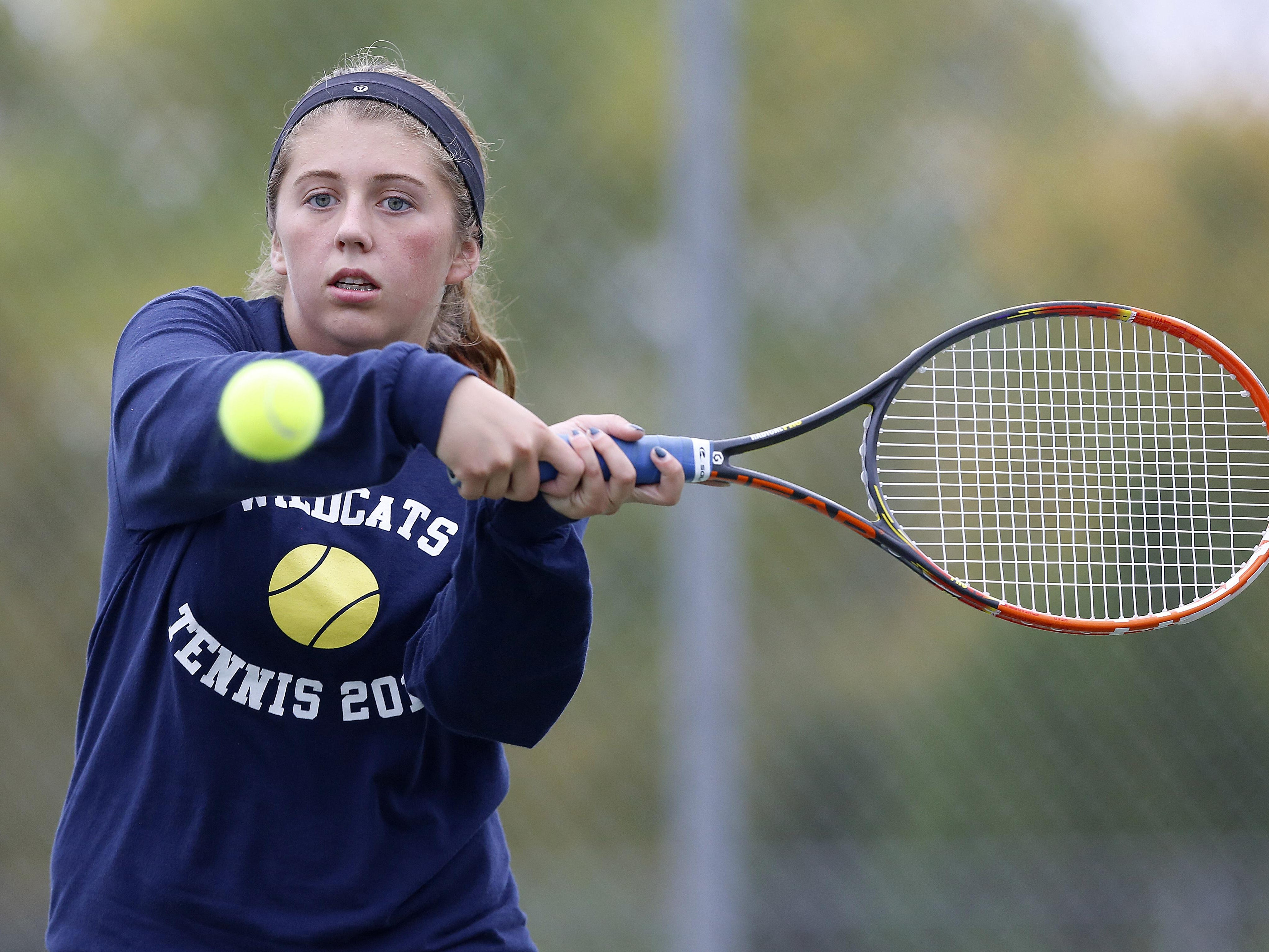 Junior Emily Edsell returns for the Wildcats at No. 1 singles after making it to state last year.