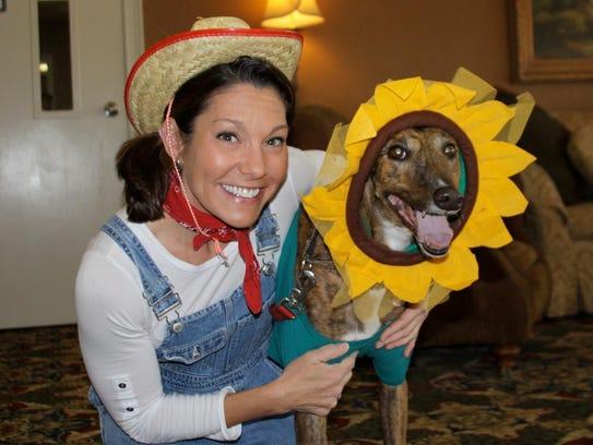 Kelly Neal with her dog, Izzie