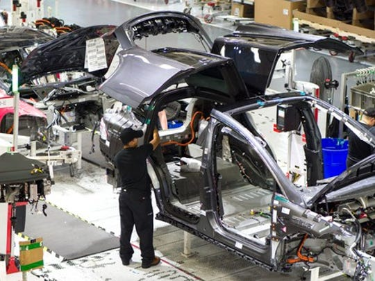 Tesla Factory Model X General Assembly