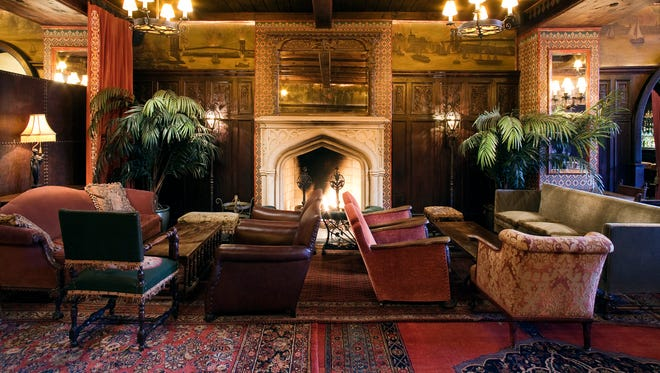 The Bowery Hotel in New York's Lower East Side has a surprisingly romantic lobby fireplace with comfy chairs and overlapping carpets.