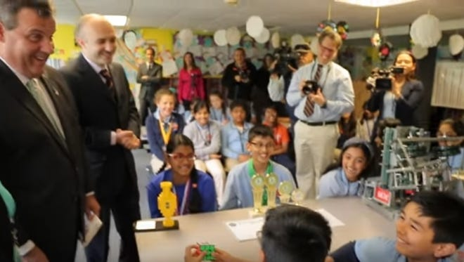 Governor Christie visits a charter school
