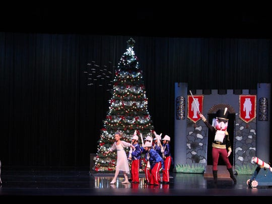 """The battle scene from the Children's Center for Dance Education's """"The Nutcracker."""" The organization is touring throughout the Tri-State through Dec. 17."""