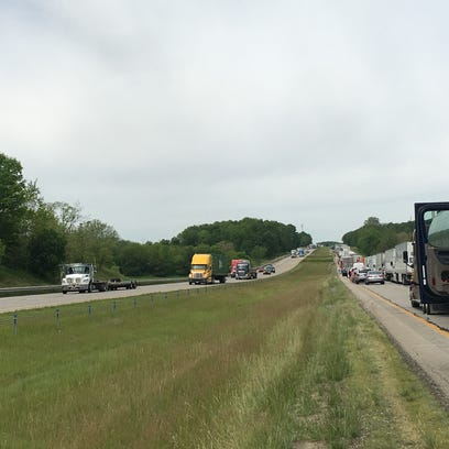 Traffic on I-70 was backed up for miles near the Wayne