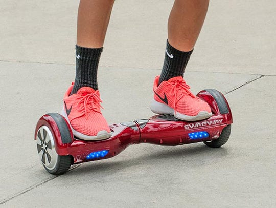 A Swagway hoverboard.