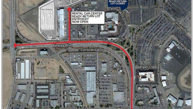 El Paso International Airport rental car facility