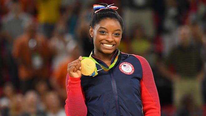 Simone Biles revealed in a post Monday she was a victim of sexual abuse.