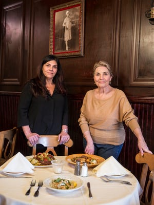 Lana Graziano and her mother, Veronica Graziano, are shown in the dining room of their Bradley Beach restaurant, Mangiare Tu.
