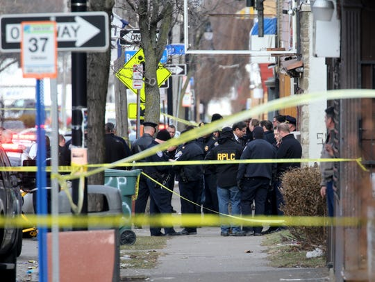Two males were shot Monday morning as law enforcement