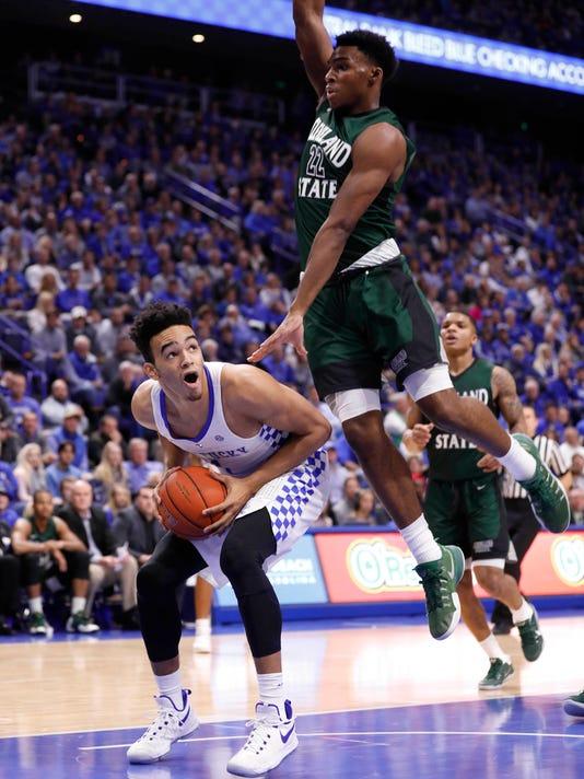 NCAA Basketball: Cleveland State at Kentucky
