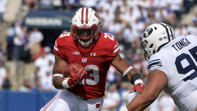 UW running back Jonathan Taylor led the Badgers on the ground in an easy victory over BYU on Saturday in Provo, Utah.