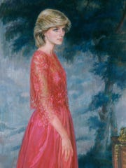 Princess Diana in portrait painted by artist June Mendoza