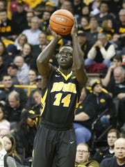 Former West Des Moines Valley prep and Iowa junior Peter Jok set a career high in minutes (34) and points (24) in the Dec. 2 overtime win against Florida State.