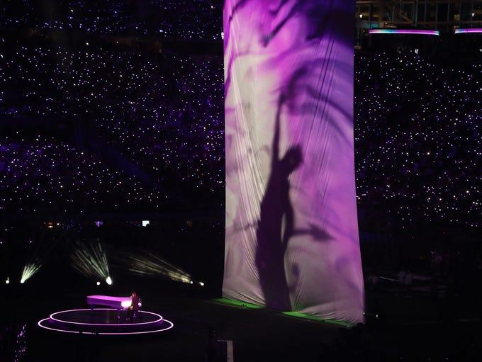 Justin Timberlake performs during half time of Super