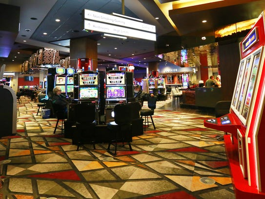 People gambling on the new machines Wednesday, Nov.