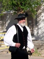 Leon Blevins took part in the 2014 re-enactment in San Elizario.