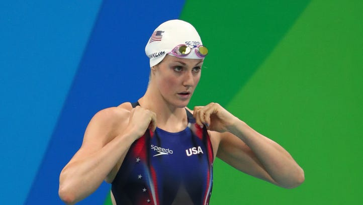 Missy Franklin failed to qualify for finals in either