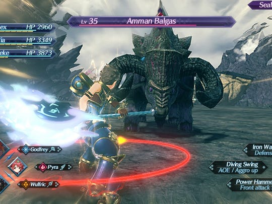 Combat in Xenoblade Chronicles 2 for the Nintendo Switch.