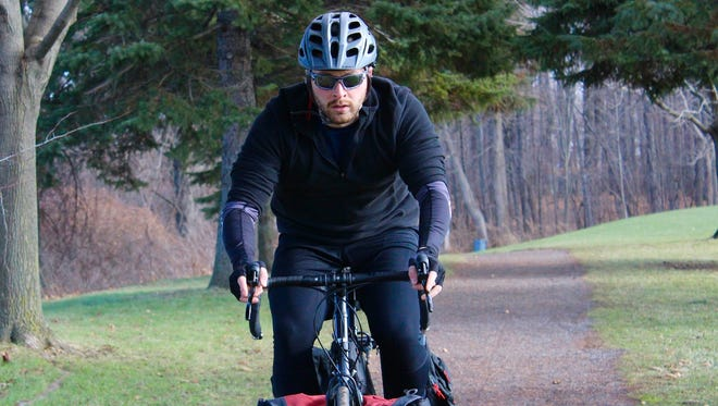 Matt Barbaccia, of Pittsford, will leave on a trans America bike trip to raise awareness and funds for Parkinson's disease on February 27, 2017.