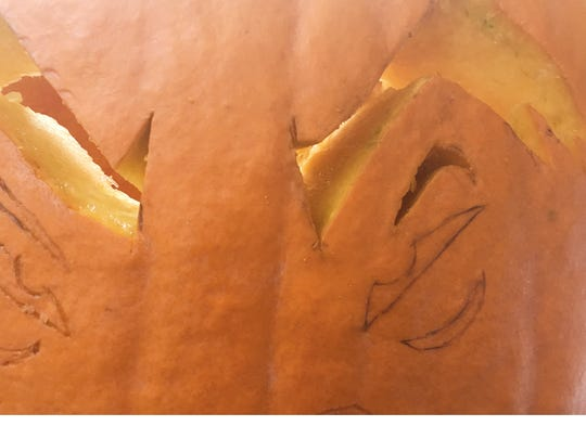 Carve away! Use a small knife with a serrated edge to give you better control.
