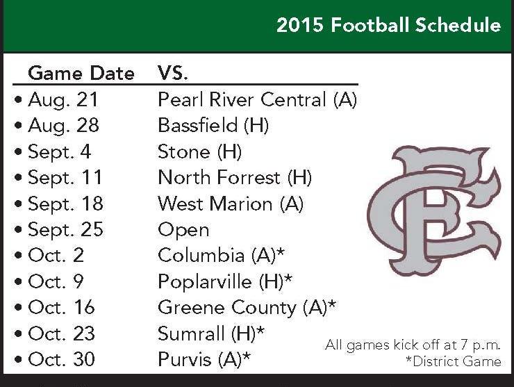 FCAHS football schedule