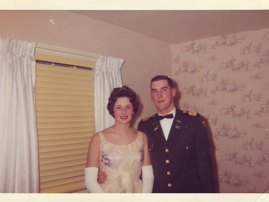 Maureen (later his wife) and Raymond Dee on their way to attend the ROTC Military Ball circa 1963.