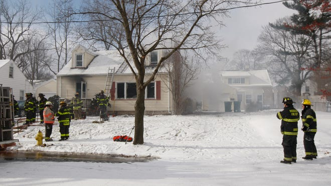 A fire displaced four adults from their home on Southview Terrace in Rochester on Jan. 7, 2015.