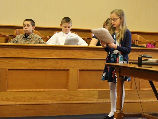 Fifth-grader Kerynn Christiansen portrays the part