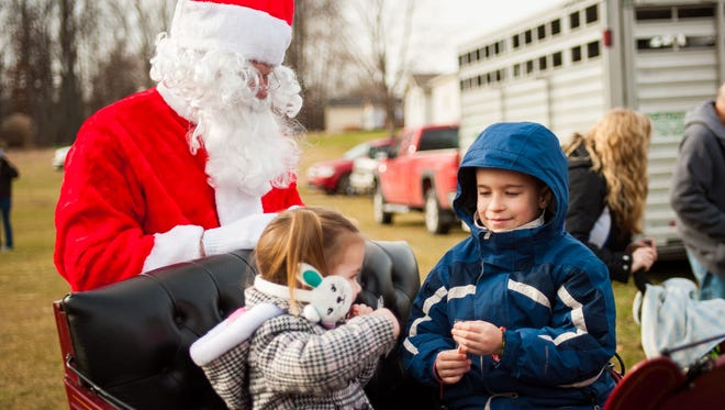 Santa will bring his reindeer to Station 66 on Sunday.