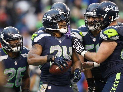 RB Marshawn Lynch is a major cog of Seattle's offensive attack.