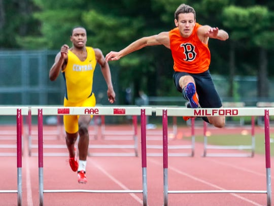 Brighton's Max Zawisa (right) finished second in the